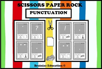 Scissors Paper Rock Punctuation Symbols