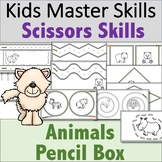 Scissors Skills - Animal-Themed Pencil Box Activities