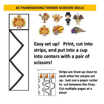 Scissors Skills Cutting Skills Strips