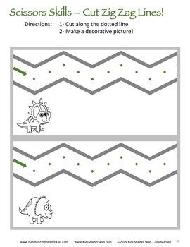 Scissors Skills - Dinosaur-Themed Pencil Box Activities