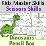 Scissors Skills - Dinosaur-Themed Pencil Box Activities