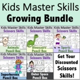 Scissors Skills GROWING BUNDLE - Fun-Themed Pencil Box Activities