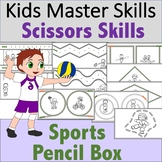 Scissors Skills - Sports-Themed Pencil Box Activties