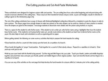 Scissors Skills cut and paste worksheets