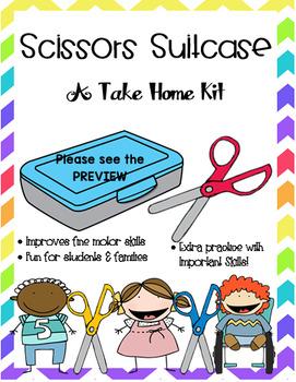 Scissors Suitcase Take Home Activity
