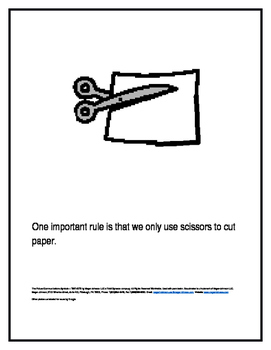 Scissors are Only for Paper Social Story