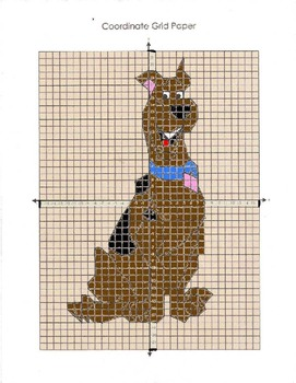 Scooby Doo Coordinate Graphing Set