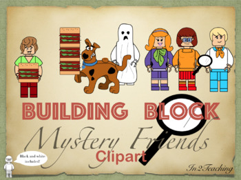 Mystery Friends Building Block Characters Clipart