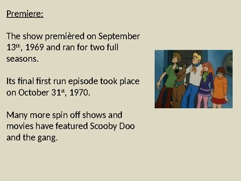 Scooby Doo - Power Point information facts history background character