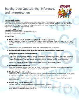 Scooby-Doo: Questioning, Inference, and Interpretation
