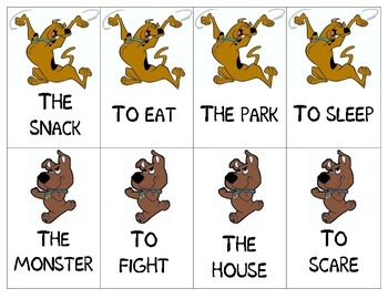 Scooby-Doo: Verbs and Nouns for You! Card Game
