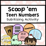 Scoop 'Em Teen Numbers Subitizing Activity for Math Centers