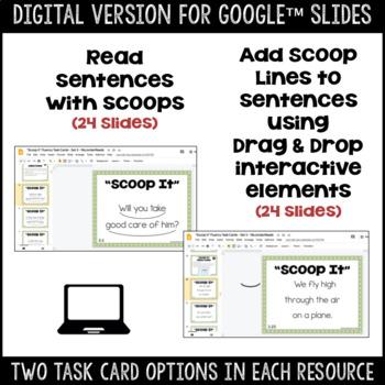 """Scoop It"" Fluency Phrasing Task Cards -- Set 3"