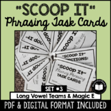 """Scoop It"" Fluency Phrasing Task Cards -- Set 3"