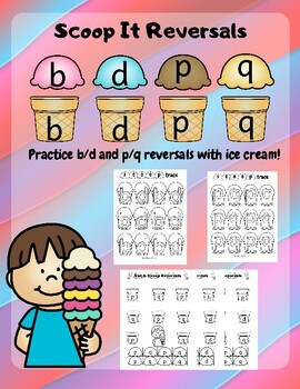 Scoop It! Reversals: B/D and P/Q Letter Reversals For Reading And Writing