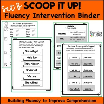 Scoop It Up!  Fluency Intervention Binder Bundle