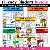 Reading Interventions Fluency Passages Intervention Binder Bundle