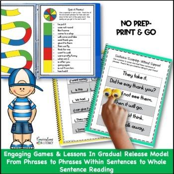 Reading Intervention Fluency Phrases & Passages Binder Bundle Distance Learning