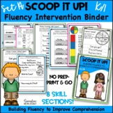 Scoop It Up!  Fluency Intervention Binder Set A