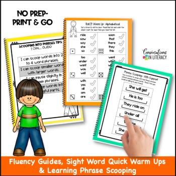 Scoop It Up!  Fluency Intervention Binder Set B