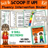 Reading Interventions Fluency Passages Intervention Binder: Scoop It Up! Set B