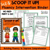 Scoop It Up!  Fluency Intervention Binder Set B