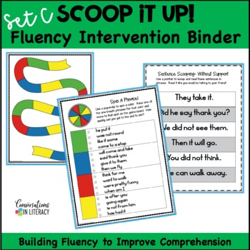 Reading Interventions Fluency Passages Intervention Binder: Scoop It Up! Set C