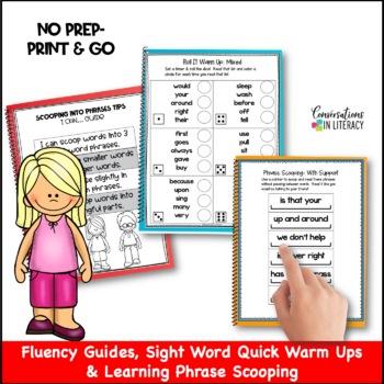 Scoop It Up!  Fluency Intervention Binder Set D