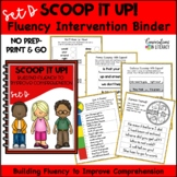 Reading Interventions Fluency Passages Intervention Binder: Scoop It Up! Set D