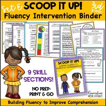 Scoop It Up!  Fluency Intervention Binder Set E