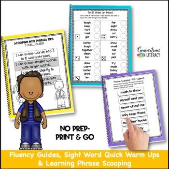 Reading Interventions Fluency Passages Intervention Binder: Scoop It Up!  Set E
