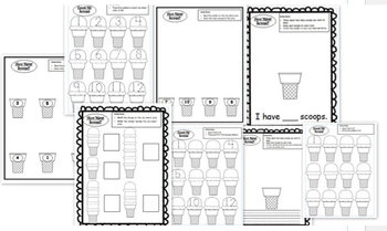 Scoop It Up! Ice Cream Counting/ Cardinality Math Center and Games, Common Core