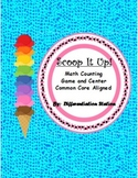 Scoop It Up! Ice Cream Counting/ Cardinality Math Center a