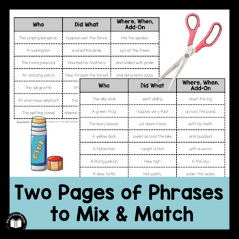 Scoop & Phrase Fluency Activity