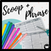 Scoop & Phrase Fluency Phrasing Activity