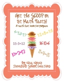 Get the Scoop on the Math Facts (1st grade) - a math fact incentive program