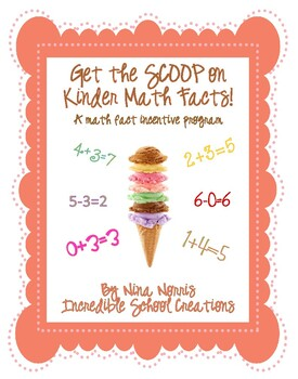 Get the Scoop on Math Facts (K) - a math fact incentive program