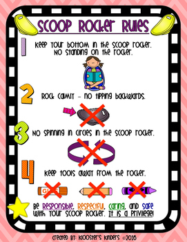 Scoop Rocker Rules Poster - Flexible / Alternative Seating