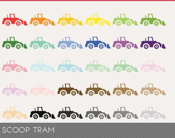 Scoop Tram Digital Clipart, Scoop Tram Graphics, Scoop Tram PNG