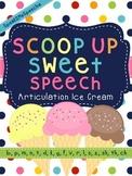 Scoop Up Sweet Speech! No Prep Articulation Ice Cream Cones!