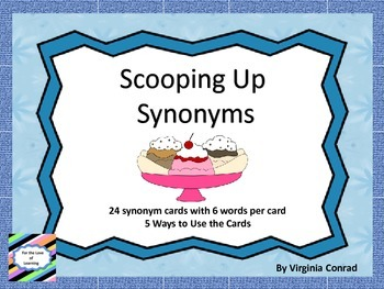 Scoop Up Synonyms--5 Activities