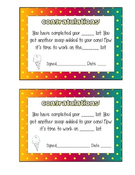 """Scoop Words: A """"Cool"""" Motivational Sight Word Packet"""