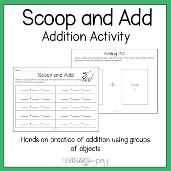 Scoop and Add: Joining Addition Activity