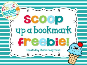 Scoop up a good bookmark!
