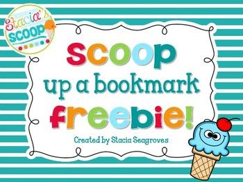 Scoop up a good bookmark!