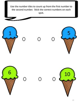 Scoopin' It Up Numbers 0-10 File Folder Games