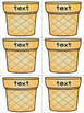 Ice Cream Sight Words - Match & Spell, Editable