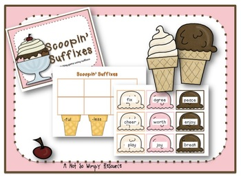 Scoopin' Suffixes ( A matching game using suffixes)