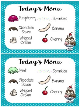 Vocabulary Games for Early Learners - Ice Cream Themed
