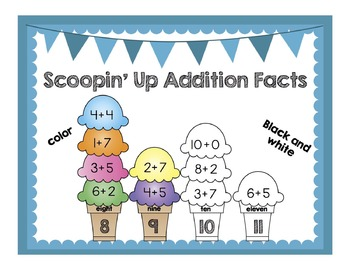 Scoopin' Up Addition Facts